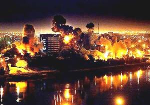 Bombardowanie Bagdadu. Źródło: www.dangerouscreation.com